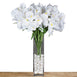 4 Bush 36 pcs White Artificial Large Iris Flowers