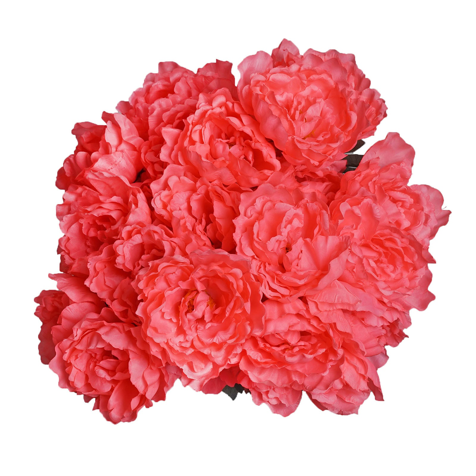 4 Pack 40 Pcs Coral Artificial Silk Peony Flowers Bridal Bouquet