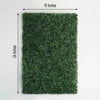 11 Sq ft. | 4 Panels Artificial Boxwood Hedge Small Leaves Faux Foliage Green Garden Wall Mat