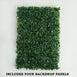 4 Pack Green Artificial Faux Foliage Wall Mat Panel