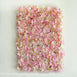 4 Pack Pink and Cream Hydrangea Flower Wall Mat Panel