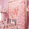 11 Sq ft. | 4 Panels UV Protected Pink | Cream Hydrangea Flower Wall Panel