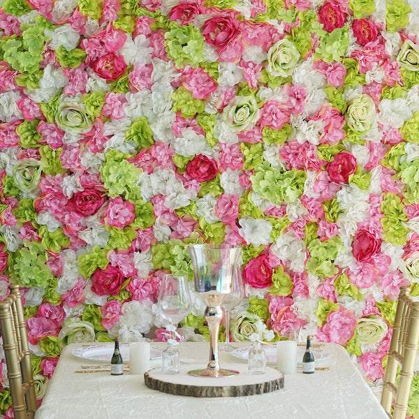 13 Sq ft. | SET of 4 |  UV Protected Assorted Silk Flower Wall Panels | Flower Wall Backdrop - Spring Mix