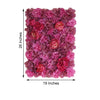 13 Sq ft. | SET of 4 |  UV Protected Assorted Silk Flower Wall Panels | Flower Wall Backdrop - Violet | Purple