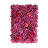 13 Sq ft. | 4 Panels UV Protected Lifelike Assorted Silk Flower Wall Mats - Violet | Purple