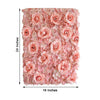 Pack of 4 - 11 Sq ft. UV Protected 3D Blush | Rose Gold Cream Silk Rose & Hydrangea Flower Wall Mat Panel