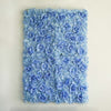 4 Pack 11 Sq ft. UV Protected 3D Blue Silk Rose & Hydrangea Flower Wall Mat Panel