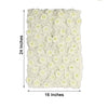 Pack of 4 - 11 Sq ft. UV Protected 3D Cream Silk Rose & Hydrangea Flower Wall Mat Panel