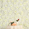 4 Pack 11 Sq ft. UV Protected 3D Cream Silk Rose & Hydrangea Flower Wall Mat Panel