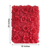 Pack of 4 - 11 Sq ft. UV Protected 3D Red Silk Rose & Hydrangea Flower Wall Mat Panel