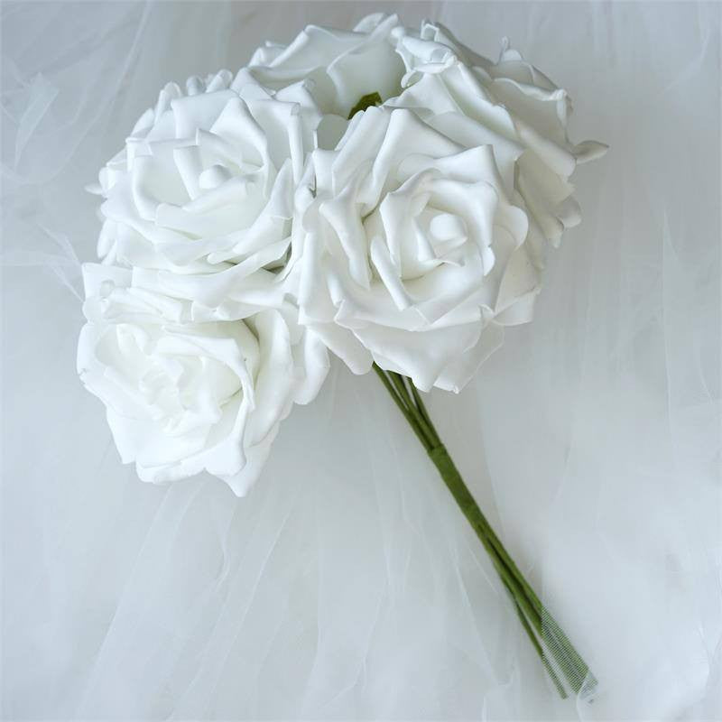 Fascinating foam rose bouquets white efavormart