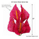 "5 Bushes | 19"" Fushia Burlap Artificial Calla Lily Flowers"