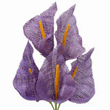 25 Burlap Pageant Large Showpiece Calla Lilies - Lavender