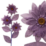 15 Burlap Daisies Flowers For Wedding Home Bouquet Vase Centerpiece Décor -   Lavender