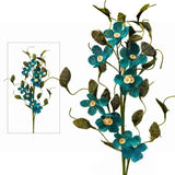 40 Burlap Daisies Flowers For Wedding Home Bouquet Vase Centerpiece Décor - Turquoise( Sold Out )