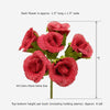 5 Bush 30Pcs Natural Burlap Rose Buds Vase Decor