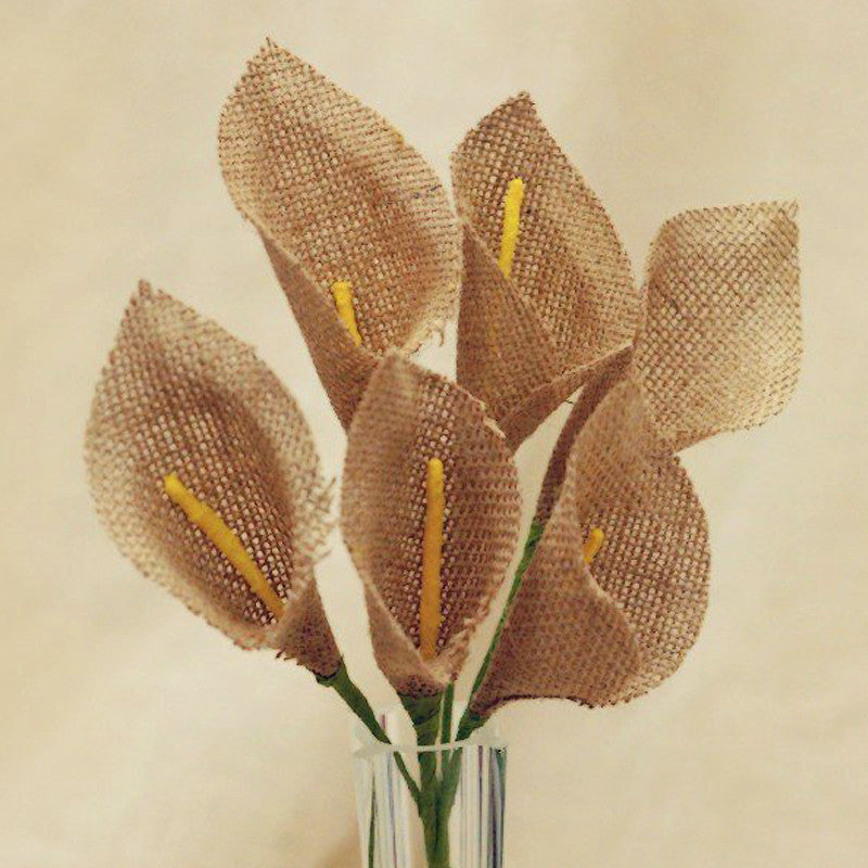 36 Burlap Pageant Everyday Calla Lilies - Natural