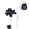 6 Bush 42 pcs Black Artificial Velvet Rose Bud Flowers