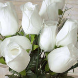 42 Giant Velvet Rose Buds on Long Stems - Ivory( Sold Out until 2017-03-03)