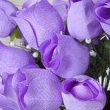 42 Giant Velvet Rose Buds on Long Stems - Lavender