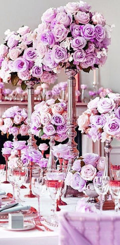 42 Artificial Giant Velvet Rose Buds Wedding Flower Bouquet Centerpiece Decor - Lavender