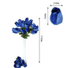 6 Bush 42 pcs Navy Artificial Velvet Rose Bud Flowers
