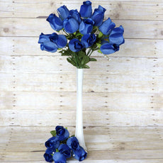 42 Giant Velvet Rose Buds on Long Stems - Navy