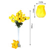 6 Bush 42 pcs Yellow Artificial Velvet Rose Bud Flowers