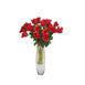 4 Bush 48 Pcs Red Artificial Long Stem Rose Flowers
