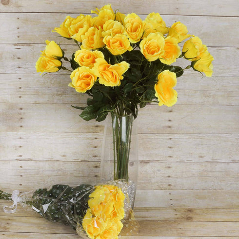 48 Long Stem Rose Bundles - Yellow