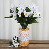 12 Bush 84 pcs White Artificial Calla Lily Flowers