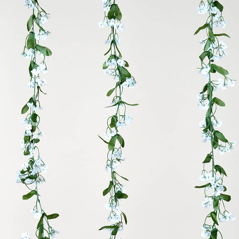 6 Pack 36 Ft UV Protected Artificial White Baby Breath Garland