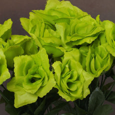 Silk flower bushes wholesale artificial flowers efavormart silk open rose lime 84pk mightylinksfo Images
