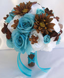84 Artificial Silk Open Roses - New Blue
