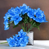 Silk Open Rose-New Blue-84/pk
