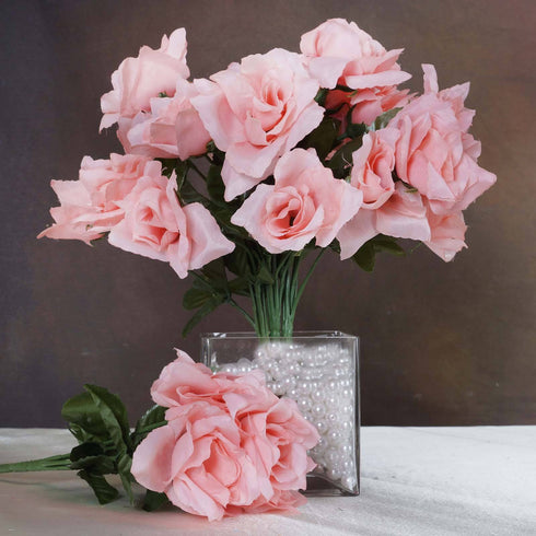 Silk Open Rose-Peach-84/pk