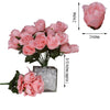12 Bush Peach 84 Rose Buds Real Touch Artificial Silk Flowers