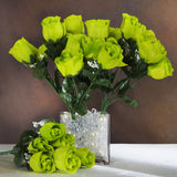 84 Artificial Silk Rose Buds Wedding Flower Bouquet Centerpiece Decor - Sage