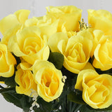 Silk Rose Buds-Yellow-84/pk