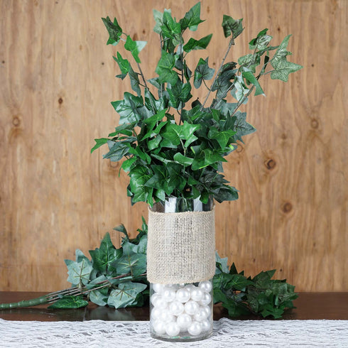 "4 Pack 18"" Tall Artificial Fig Leaves Bushes"