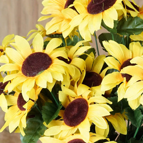 70 Silk Sunflowers