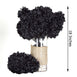 4 Bush 56 pcs Black Artificial Silk Chrysanthemum Flowers