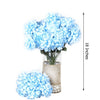 4 Bush 56 pcs Light Blue Artificial Silk Chrysanthemum Flowers