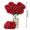 4 Bush 56 pcs Burgundy Artificial Silk Chrysanthemum Flowers