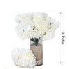 4 Bush 56 pcs Ivory Artificial Silk Chrysanthemum Flowers