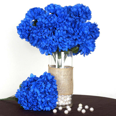 56 Chrysanthemum Mum Balls - Royal Blue