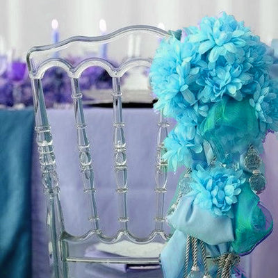4 Pack Turquoise Artificial Silk Chrysanthemum Flower Bridal Bouquet