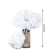 4 Bush 56 pcs White Artificial Silk Chrysanthemum Flowers