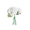 "5 Heads | 11"" Tall Artificial Bush Peony Bouquet - White"