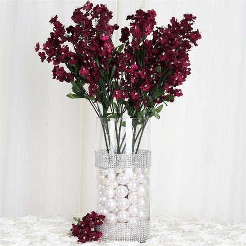 Silk Baby Breath-Burgundy-dz/pk